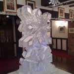 Snowflake on icicles luge