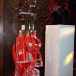 Fire & Ice themed sculpture luge