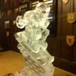 Skier ice luge