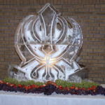 Sikh symbol ice sculpture