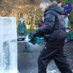 Bognor school ice sculpture