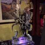 Puzzle ice luge mr & mrs