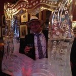 Picture frame ice sculpture for memorable photos