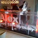 Birthday ice bar 3m with wording