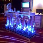 Letter ice bar at Gartner exhibition