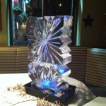 Snowflake Ice Luge at event