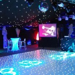 Bond party set up – décor, backdrops and lighting | Ice Agency