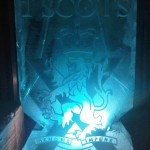 iOne scots double Luge - Ice Luge - Luge for Vodka - Ice Carving Sculpture | Ice Agency