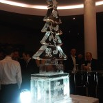 Xmas tree Ice Sculpture Vodka luge