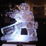 - Soldier with SA80 - Ice Luge - Luge for Vodka - Ice Carving Sculpture | Ice Agency