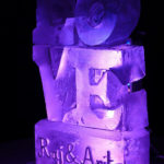 LOVE Wedding Vodka Ice Luge Ice Sculpture | Ice Agency