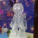 Funky Dancer Ice Sculpture Vodka Ice Luge