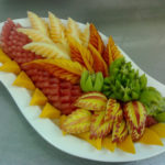 carved fruit platter