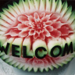 Carved watermelon | Welcome and Flower Decoration | Ice Agency