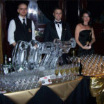 007 James Bond Ice Sculpture Vodka Ice Luge