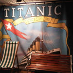 Titanic backdrop for chocolate fountain – comes with gangplank