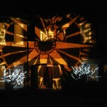 Gobo lighting – compass rose example at Titanic party | Ice Agency