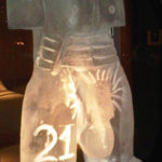 Male Torso Ice Sculpture Vodka Ice Luge for Birthday Party