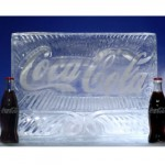 Coca Cola logo sculpture 1m long