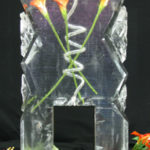 Spiral Vodka Luge with Frozen Flowers | Ice Agency