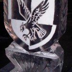 Double luge for 16 Air Assault Brigade - Ice Luge - Luge for Vodka - Ice Carving Sculpture | Ice Agency