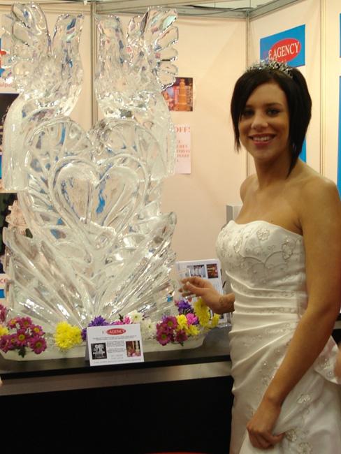Wedding Love Birds Ice Luge Fayre Agency