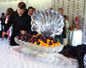 Shell Ice Luge with Fruit | Ice Agency