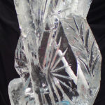 Crossed Hockey Sticks Ice Sculpture Vodka Ice Luge