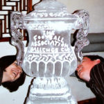 FA Cup Ice Sculpture Vodka Ice Luge For Footballer Party