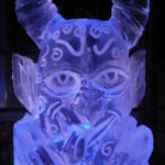 Devil Head Ice Sculpture Vodka Ice Luge