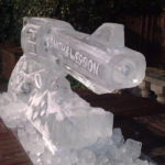 Wild West Party Theme Gun Ice Sculpture Vodka Ice Luge