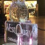 West Quay shopping centre ice sculpture