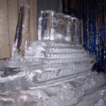 Titanic Theme Ice Sculpture Vodka Ice Luge