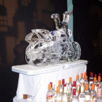 Harley Davidson Motorbike Ice Sculpture Vodka Ice Luge