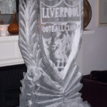 Liverpool FC - Ice Luge - Luge for Vodka - Ice Carving Sculpture | Ice Agency