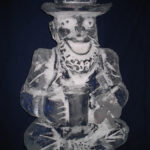 Irish St Patricks Day Ice Sculpture Vodka Ice Luge Leprechaun Ice Luge