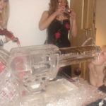 Revolver Ice Sculpture Vodka Ice Luge at Nottingham University Party