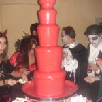 red chocolate fountain halloween theme