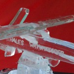 Thales Watchkeeper unmanned recon - Ice Luge - Luge for Vodka - Ice Carving Sculpture | Ice Agency