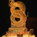 Rings entwined ice luge