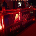 Happy Birthday Ice Luge Bar | Ice Agency