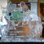 Horse And Rider Ice Sculpture Vodka Ice Luge