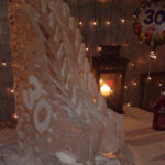 Ski Jump 30th Birthday Ice Sculpture Vodka Ice Luge