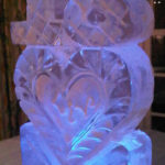 18 on heart - Ice Luge - Luge for Vodka - Ice Carving Sculpture | Ice Agency