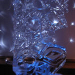 Masquerade Masks Ice Sculpture Vodka Ice Luge
