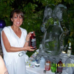 Rolling Stones lips - Ice Luge - Luge for Vodka - Ice Carving Sculpture | Ice Agency