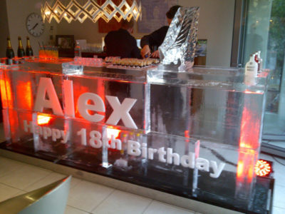 3M Birthday ice bar with luge - Gloucester