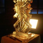 Snowflake for Market Kitchen tv show - Ice Carving Sculpture | Ice Agency