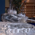 Challenger 2 tank - Ice Luge - Luge for Vodka - Ice Carving Sculpture | Ice Agency