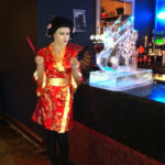 Bar top luge and geisha - Ice Luge - Luge for Vodka - Ice Carving Sculpture | Ice Agency